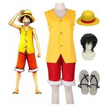 Anime Monkey D Luffy Yellow Cosplay Costume