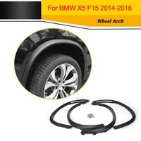 PP Auto Side Fender Flare Molding Trims Matt Black Car Wheel Arch for BMW F15 X5 2014 2016