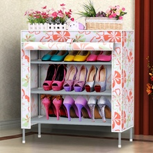 Shoe rack multilayer thick stainless steel dust shoe simple small Specials