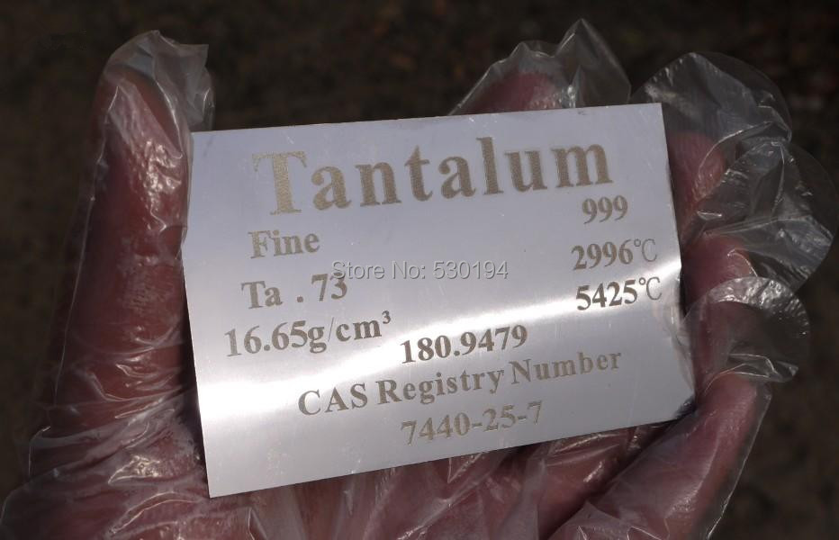 99.9% Pure TANTALUM Metal Carved Element Periodic Table Sheet 19.86g