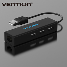 Vention USB 2.0 To 10/100 Mbps RJ45 Lan Network Ethernet Adapter Card + 3 Port USB Hub For Mac OS Tablet pc Laptop Smart TV