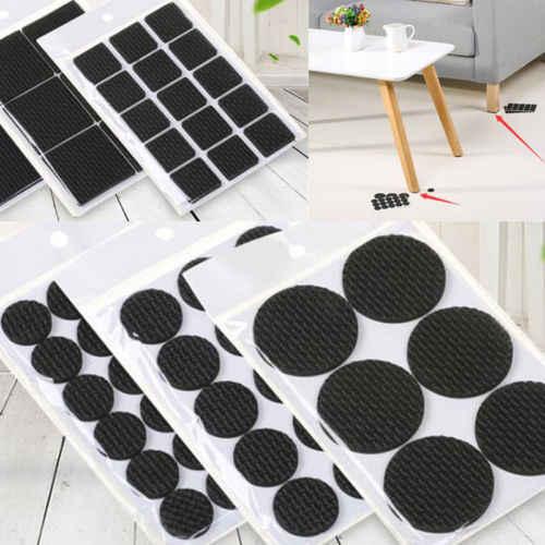 1 Lot Lembut Anti Slip Mat Perabotan Kaki Non-Slip Karpet Merasa Bantalan Sofa Meja Kursi Mat Stiker