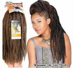 18 inch Afro Kinky Twist Braid Curly freetress Synthetic Hair Bulk Extensions Marley Braid Synthetic burgundy Braiding Hair