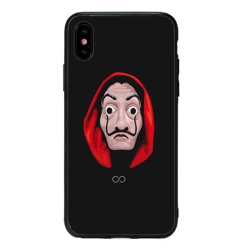 Phone Cases Spain TV La  Soft Casa de papel  Case For iPhone XS MAX XR X 10 5 5S SE 6 6S 7 8 Plus Cool Cartoon Back Cover
