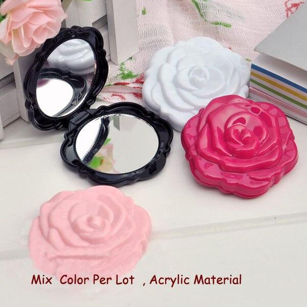 Schminkspiegel ZuverläSsig 4 StÜcke Anna KÖnigin Hohe Qualität Acryl 3d Nette Rose Form Compact Kosmetikspiegel-kostenloser Versand Grade Produkte Nach QualitäT