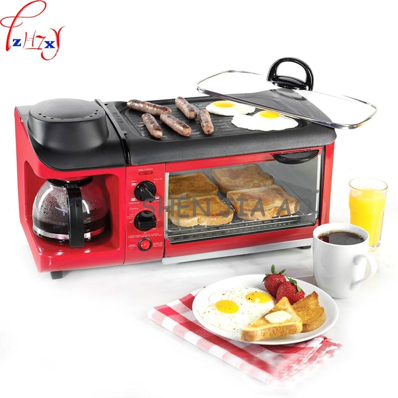 Home multi-functional breakfast machine toast toast / cook coffee / omelette triple multi-functiona breakfast machine 110/220V ariete toast