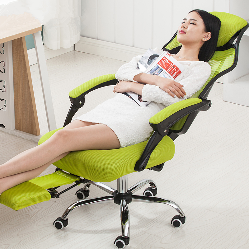 Simple Modern High Quality Office Chair Leisure Lying Household Computer Chair Ergonomic Swivel Boss Chair With Footrest super soft modern household office chair leisure lying lifting boss chair ergonomic swivel computer boss chair