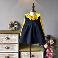 2018 Spring Baby Girls Long Sleeve Dress Cres Neck Kids Clothes Princess Dress 2 PCS Children
