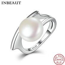 INBEAUT Elegant Wedding Rings Female Solid Authentic 925 Sterling Silver Pearl Ring Women Trendy Lover Statement Jewelry
