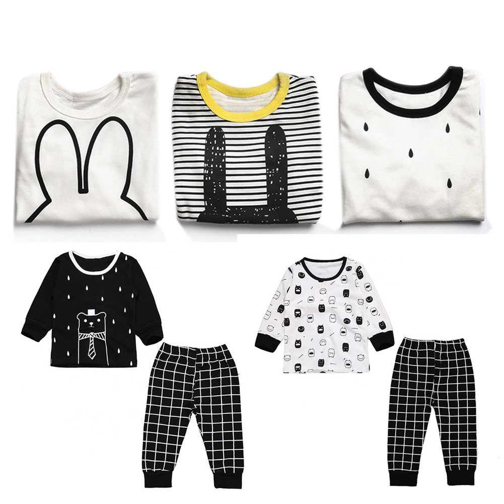 New 2016 Baby Boy Clothing Set Cotton Long Sleeved Printing T-Shirt+Pants Fashion Baby Boys Clothes Newborn Infant 2pcs Suit 2018 spring autumn newborn clothes set fashion crown print black baby boy girl long sleeve t shirt pants 2pcs suit 0 36m