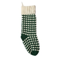 1pcs Christmas Dot Socks Knitted Hosiery Gift Tree Ornament Stocking Hanging Ring Candy Party socks 2018 New Arrival