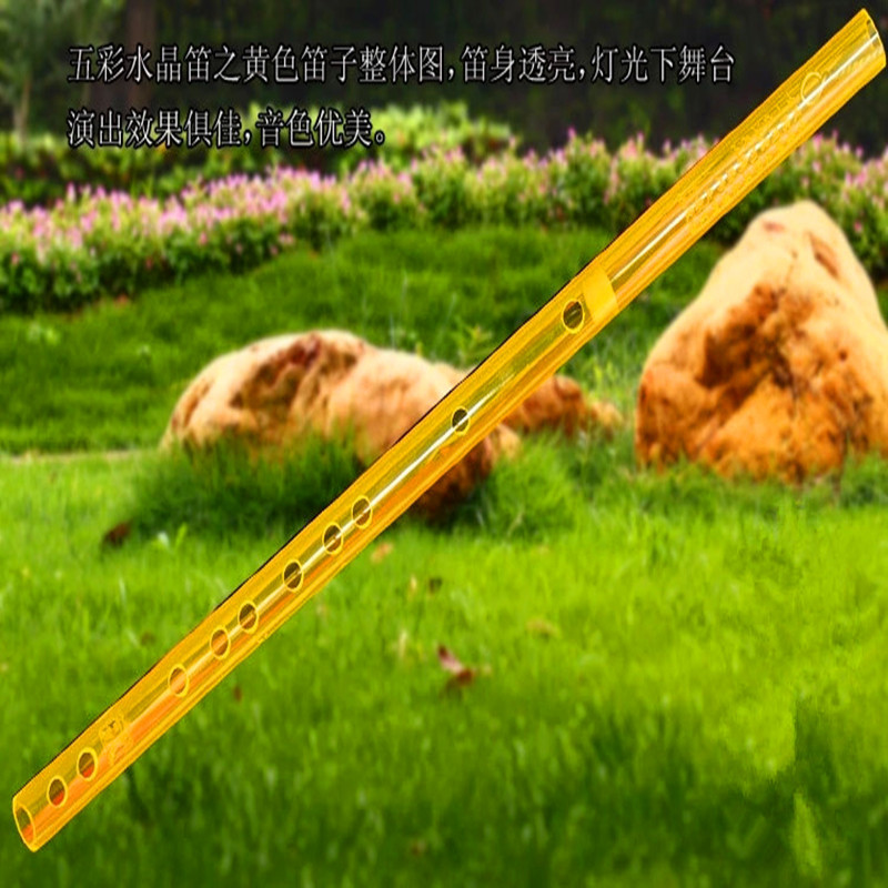 Flauta china de color Dizi Transverse fluta Concierto de cristal - Instrumentos musicales - foto 4