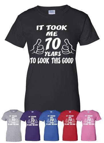 Us 4 79 20 Di Sconto Ci Sono Voluti 70 Anni A Guardare Questa Buona 70th Divertente Regalo Di Compleanno T Shirt Più Di Formato E Colors A306 In