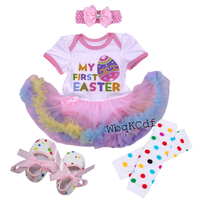 Christmas Newborn Baby Girl Clothes New Year Reindeer Sets Bebes Romper Dress First Christmas Costumes 4pcs