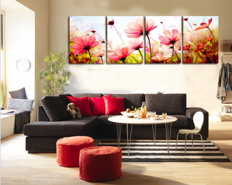 Beautiful Aliexpress Com Buy 4Panels Modern Art For Living Room Decorative