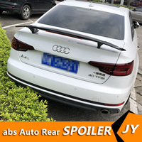 For Audi A4 Spoiler 2018 2019 Audi A4 A6 spoiler TF High Quality ABS Material Car Rear Wing Primer Color Rear Spoiler