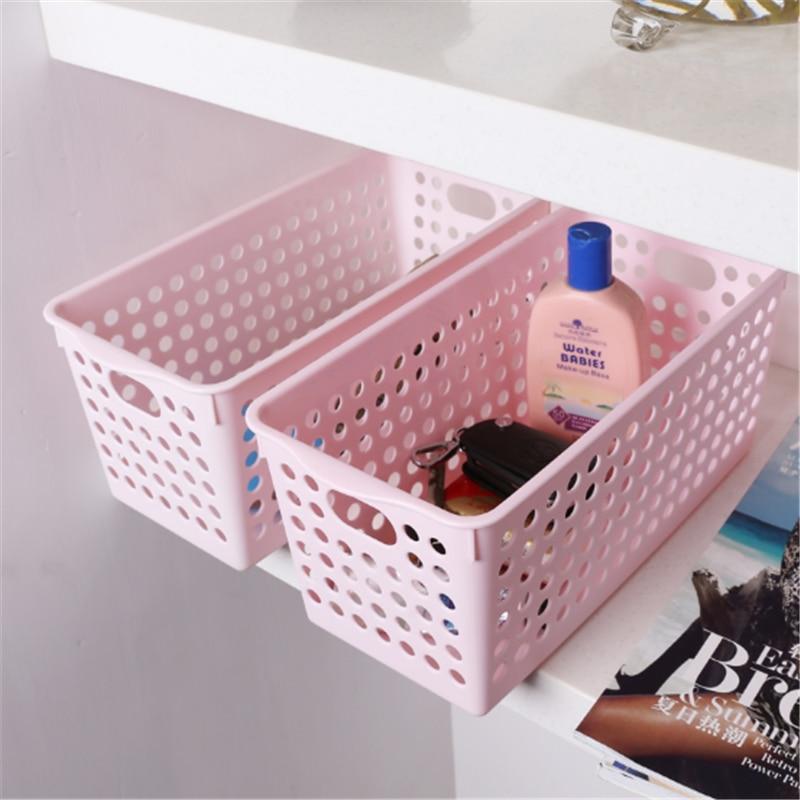 Free 1pcs Set Baskets Home Cosmetic Storage Box Basket Kitchen Office  Baskets Rectangular Plastic Desktop Storage#Random Color In Storage Baskets  From Home ...