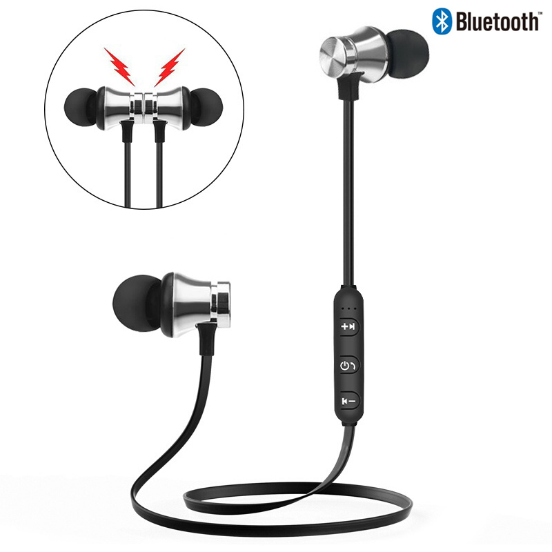 Magnetic Wireless Bluetooth Earphone Bt Waterproof Sports Headset Bluetooth 4 2 Build In Mic Bluetooth Headphone Wireless Buy At The Price Of 2 39 In Aliexpress Com Imall Com