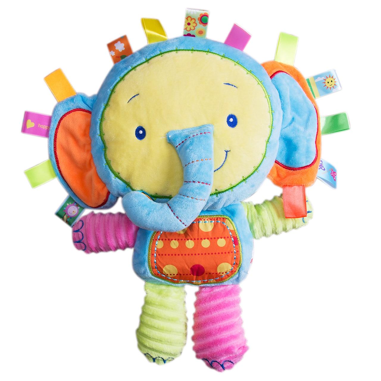 Cute Animal Handbells Developmental lovely Toy Bed Bells Kids Baby Soft Plush Popular Toys Rattle Hot