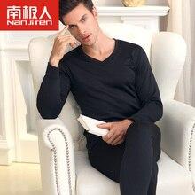 Men's Underwear Бархат Лонг Джонс Мужской Молодежи V-образным Вырезом Тонкий Срез Нижнего Thermal Underwear Плюс Толстый Бархат Костюм L-5XL(China (Mainland))