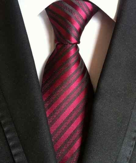 Mode cravates classique hommes rayure jaune bleu marine cravates de mariage Jacquard tissé 100% soie hommes solide cravate à pois cou cravates