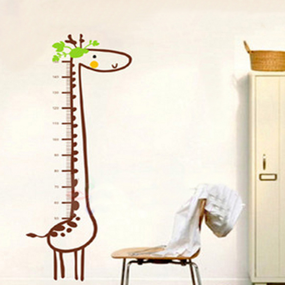 Giraffe growth chart height measure wall stickers for kids rooms giraffe growth chart height measure wall stickers for kids rooms animal poster sticker children bedroom decoration geenschuldenfo Image collections