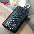 Snakeskin Leather Auto Car Key Remote Cover Case Holder Car Key Case Wallet Bag Ring Keychain For Alfa Romeo Free Shipping