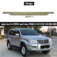 Rear Cargo Cover For TOYOTA Land Cruiser PRADO LC120 FJ120 120 2003 2009 privacy Trunk Screen Security Shield shade Accessories
