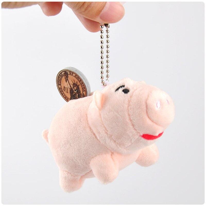 2018 New Toy Story Hamm Pig Plush Keychain Toys Movie Cartoon Pink Pig Animal Dolls Small Key Bag Peluche Pendants 10cm 10pcs toy story bunny toys