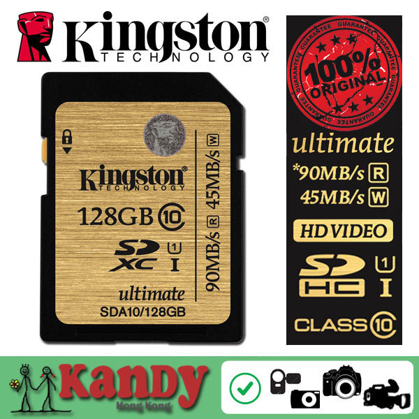 Kingston карты памяти sd Class 10 SDXC UHS-I 300X HD 3D видео 16 г 32 ГБ 64 ГБ 128 ГБ 256 ГБ 512 ГБ картао tarjeta де memoria оптовая