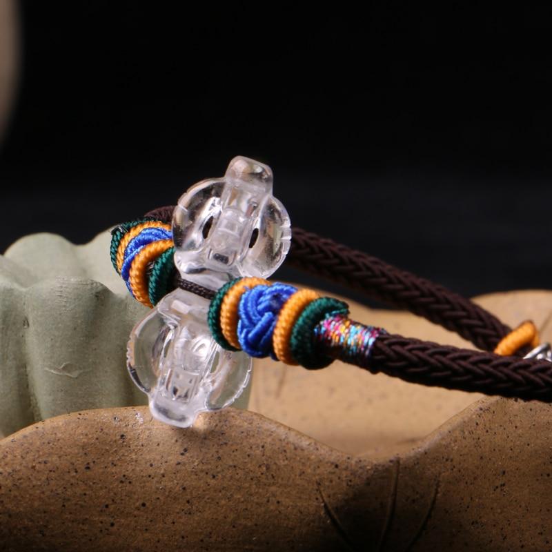 Handmade Tibetan Dorje Bell Bracelet Braided Bracelet Buddhist Vajra Beaded Bracelet 100% 925 silver tibetan dorje bracelet fine leather buddhist vajra symbol bracelet pure silver tibetan six words bracelet