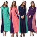 Турецкие женщины одежда мусульманин платье Исламский абая Леди jilbabs и abayas Сращивания Шифон длинные платья giyim дешевая одежда китай