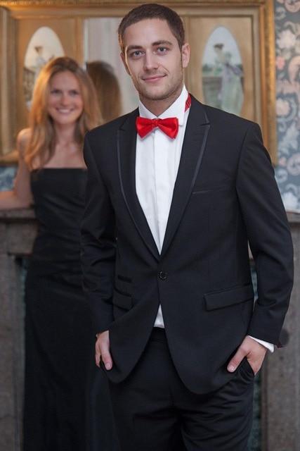 (Jacket + Pant) boda Trajes de Negocios Para Los Hombres Por Encargo de La Moda de Alta Calidad Chaqueta de Los Hombres Traje de Novio Esmoquin Vestido de Ocasión Especial