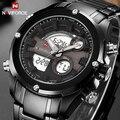 Top Brand NAVIFORCE Men Full Steel Sport Watches Men's Quartz Analog Digital Clock Man Military Wrist Watch Relogio Masculino