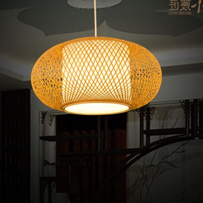 Bamboo chandelier chandelier Chinese antique restaurant hotel teahouse inn hand rattan Japanese chandelier zb63 southeast asian chinese antique tea bamboo rattan lamp chandelier lamp box farmhouse inn lights ya7265