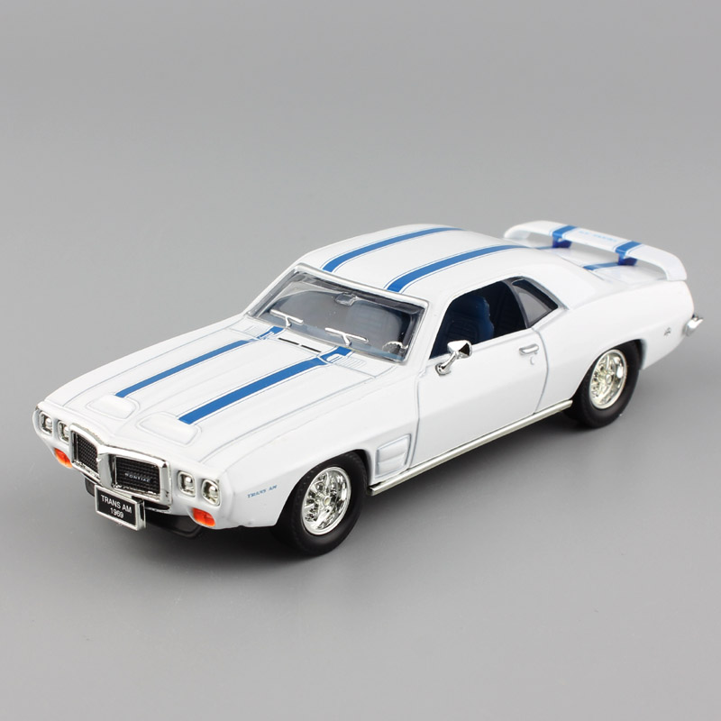1:43 Brand Mini Scales Pontiac 1969 Firebird Trans AM Classic Display Metal Car Auto Collecting Automobile Model Toy For Childs