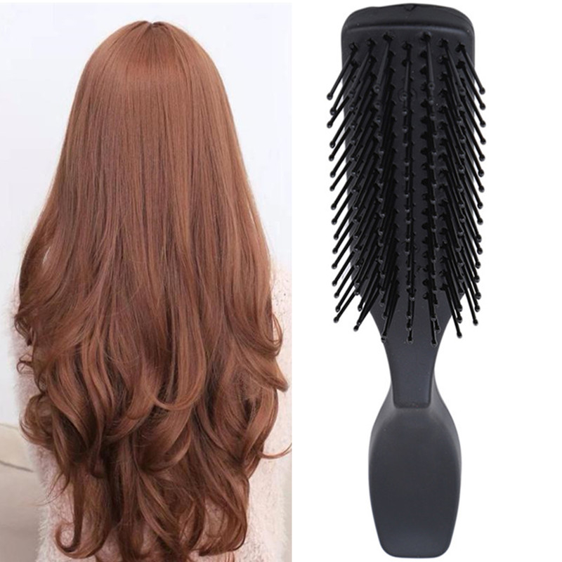 Hair Styling Brush Plastic Detangle Hairbrush Salon Hairdressing Straight Curly Hair Comb Tangle Hair Brush