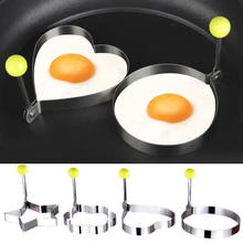 Newest Hot Fried Egg Pancake shaper Stainless Steel Shaper Mould Mold Kitchen Rings Heart(China)