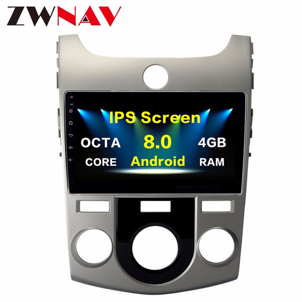 2 Din Android 8.0 Car multimedia Player For KIA Forte Cerato 2008 2012 GPS Navigation Map WIFI BT Radio Player stereo Octa core