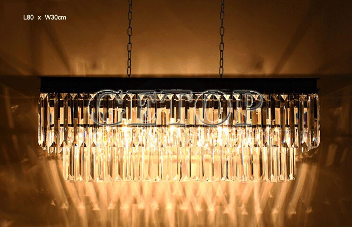Aliexpress Buy Best Price American Country Crystal Chandelier Dining Room Creative Rectangular Pendant Lamp LED Lighting RH From
