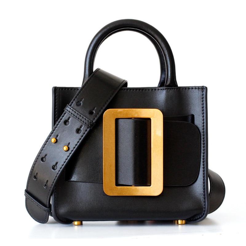 INS sac fourre-tout chaud en cuir véritable femmes Messenger sacs sac à bandoulière sac à main femmes marques célèbres sacs à bandoulière pour dame sac main