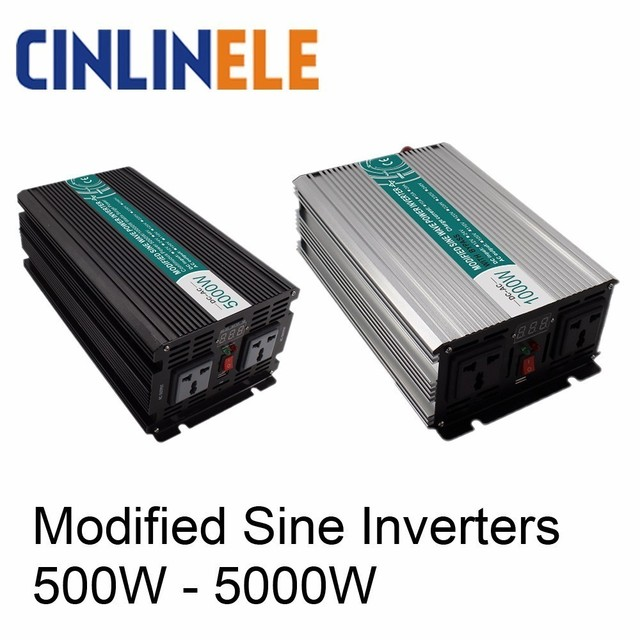 Smart Modified Sine Wave Inverter DC 12V 24V 48V To AC 110V 220V Solar Power 300W 500W 1000W 1500W 2000W 3000W 4000W 5000W
