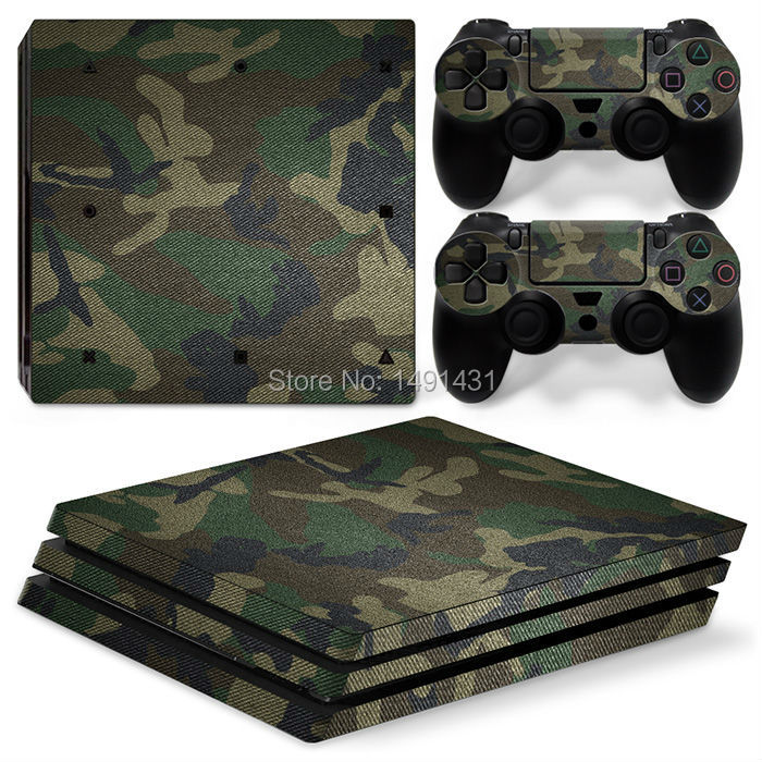 OSTSTICKER Camouflage Vinyl Skin Sticker For PlayStation 4 ProDecal