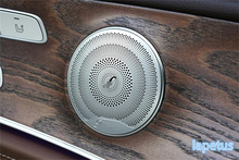 For Mercedes-Benz C Class W205 2014 – 2017 Car Door Stereo Speaker Audio Loudspeaker Decoration Cover Trim 4 Pcs