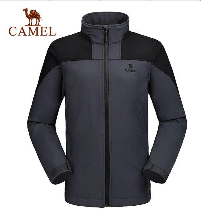 Camel Outdoor Men s Soft Shell font b Jacket b font Waterproof Windproof Hooded font b