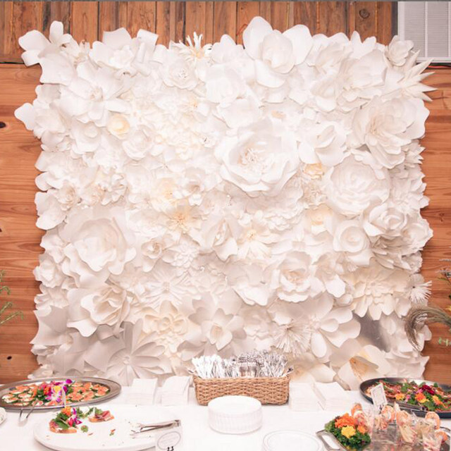 Online shop large paper flowers backdrop giant paper flowers large paper flowers backdrop giant paper flowers wedding decorpaper big white rose flower mightylinksfo