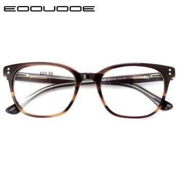 ed75de10a1 Vintage óptica gafas de Marco Gregory Peck Retro Para hombres y mujeres  acetato de gafas miopía gafas lente