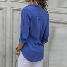 Nibesser Female Floral Print Blouse Shirt 2018 Button Irregular Women Top Chiffon Shirt Long Sleeve Casual Boho Blouse Top