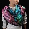 90 cm * 90 cm Mulheres de cetim Lenço Quadrado de Alta Qualidade de Cetim de Seda Imitado Cachecóis Xaile Hijab estilo 2016 moda