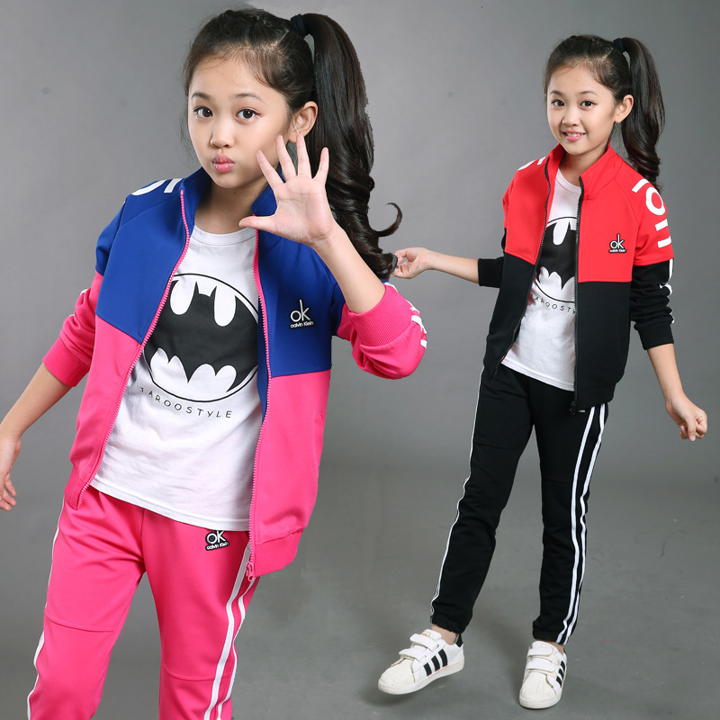 Girls Boys clothing set jacket Floral Sports coat+pants 2Pcs Sets Suit Children Girls Clothing Sets For Girl Kids Sport Clothes 2018 new cartoon boys clothing sets 2pcs denim jacket